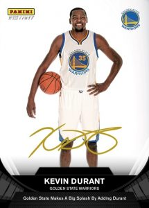 2016-17 Panini Instant NBA Basketball Kevin Durant Golden State Warriors