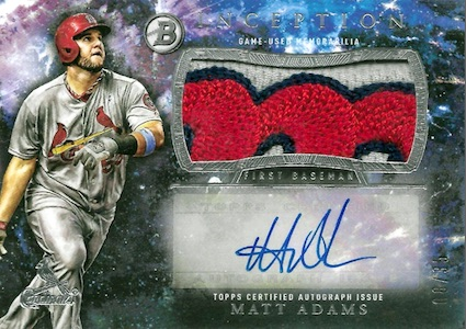 2016 Bowman Inception Baseball Autograph Jumbo Patch