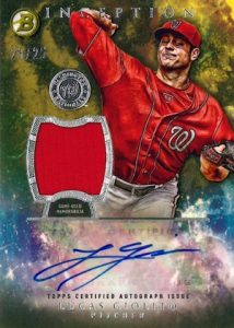 2016 Bowman Inception Baseball Autograph Relics Giolito