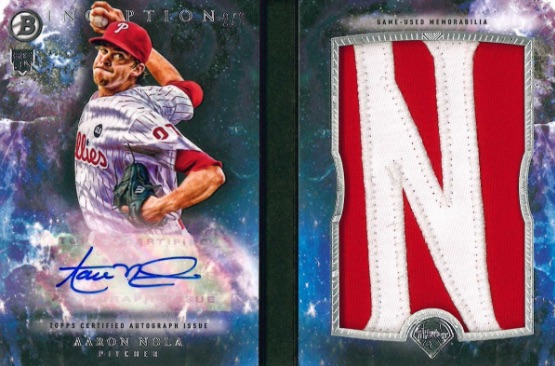 2016 Bowman Inception Baseball Inceptionized Bowman Autograph Letter Book Relic Nola