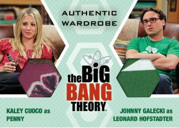 2016 Cryptozoic Big Bang Theory S6 & S7 Prop:Wardrobe Dual Card