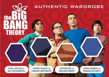 2016 Cryptozoic Big Bang Theory S6 & S7 Prop:Wardrobe Quad