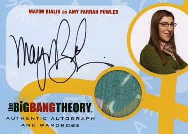 2016 Cryptozoic Big Bang Theory Season 6 and 7 Autographed Memorabilia Mayim Bialik