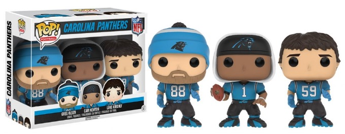 2016 Funko Pop NFL Series 3 Carolina Blue 3-Pack- Greg Olsen, Cam Newton, Luke Kuechly
