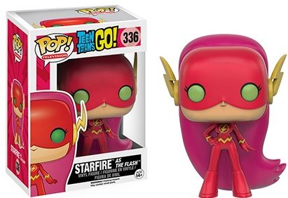 2016 Funko San Diego Comic-Con Exclusives Pop Teen Titans Go #336 Starfire as The Flash First to Market