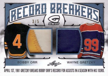 2016 Leaf Genesis Hockey Record Breakers Relics Gretzky Orr