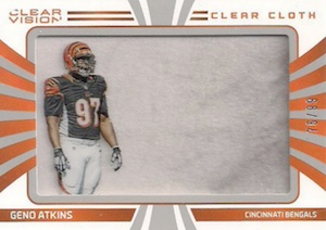 2016 Panini Clear Vision Football Clear Cloth Jersey Geno