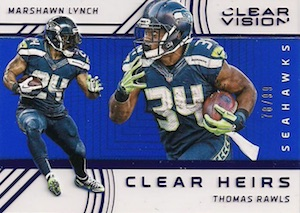 2016 Panini Clear Vision Football Clear Heirs