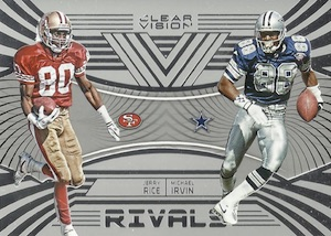 2016 Panini Clear Vision Football Clear Rivals Irvin Rice