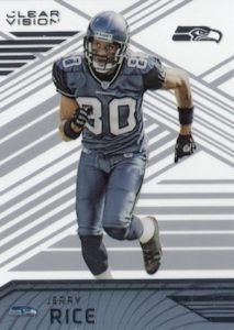 2016 Panini Clear Vision Football Team Variations Jerry Rice Seahawks