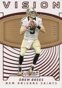 2016 Panini Clear Vision Football Vision Bronze Brees