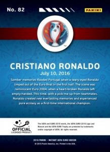 2016 Panini Instant Euro Soccer Cards - Updated 2