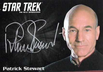 2016 Rittenhouse Star Trek The Next Generation Portfolio Prints Series 2 Autographs Patrick Stewart