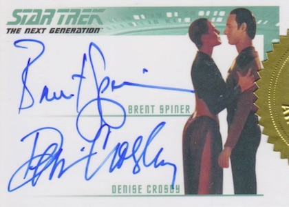 2016 Rittenhouse Star Trek The Next Generation Portfolio Prints Series 2 Dual Autographs Crosby Spiner