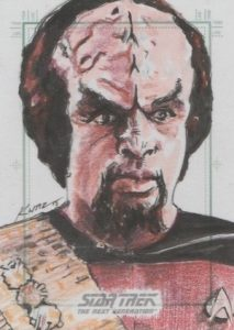 2016 Rittenhouse Star Trek The Next Generation Portfolio Prints Series 2 Sketch