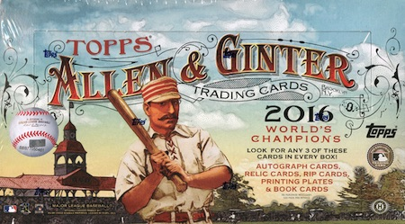 2016 Topps Allen & Ginter Baseball Cards - Review & Hit Gallery Added 50