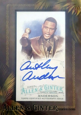 2016 Topps Allen & Ginter Non-Baseball Autographs Anthony Anderson