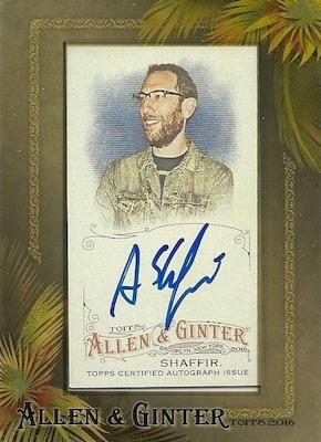 2016 Topps Allen & Ginter Non-Baseball Autographs Ari Shaffir