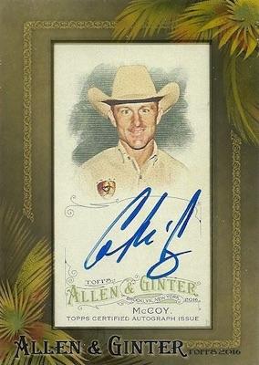 2016 Topps Allen & Ginter Non-Baseball Autographs Cord McCoy