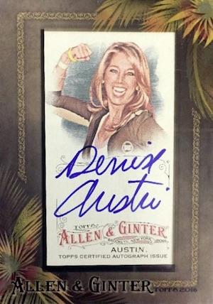 2016 Topps Allen & Ginter Non-Baseball Autographs Denise Austin