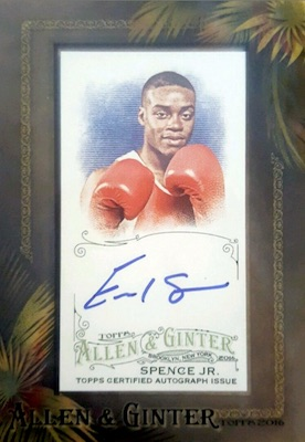 2016 Topps Allen & Ginter Non-Baseball Autographs Errol Spence Jr