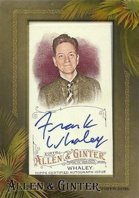 2016 Topps Allen & Ginter Non-Baseball Autographs Frank Whaley
