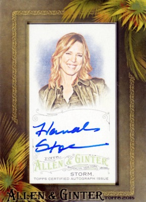 2016 Topps Allen & Ginter Non-Baseball Autographs Hannah Storm
