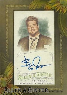 2016 Topps Allen & Ginter Non-Baseball Autographs Jay Oakerson