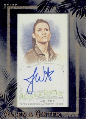 2016 Topps Allen & Ginter Non-Baseball Autographs Jen Welter