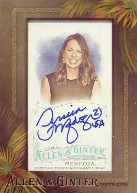 2016 Topps Allen & Ginter Non-Baseball Autographs Jessica Mendoza