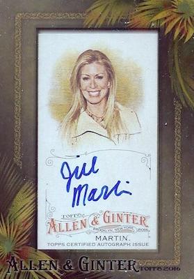 2016 Topps Allen & Ginter Non-Baseball Autographs Jill Martin