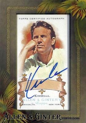2016 Topps Allen & Ginter Non-Baseball Autographs Kevin Costner