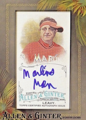 2016 Topps Allen & Ginter Non-Baseball Autographs Laurence Leavy Marlins Man