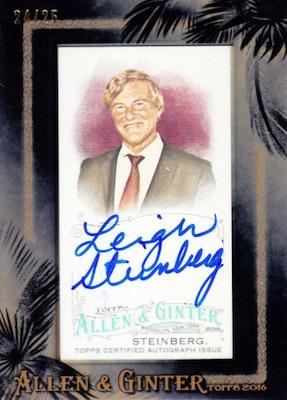 2016 Topps Allen & Ginter Non-Baseball Autographs Leigh Steinberg