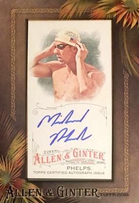 2016 Topps Allen & Ginter Non-Baseball Autographs Michael Phelps