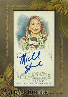 2016 Topps Allen & Ginter Non-Baseball Autographs Michele Steele