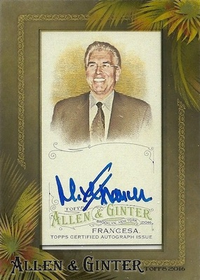 2016 Topps Allen & Ginter Non-Baseball Autographs Mike Francesa