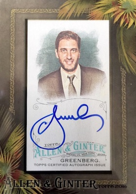 2016 Topps Allen & Ginter Non-Baseball Autographs Mike Greenberg