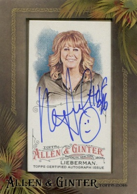 2016 Topps Allen & Ginter Non-Baseball Autographs Nancy Lieberman