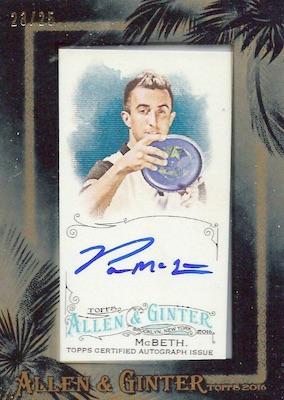 2016 Topps Allen & Ginter Non-Baseball Autographs Paul McBeth