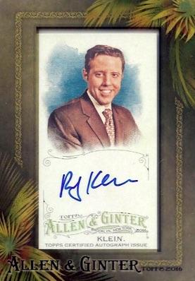 2016 Topps Allen & Ginter Non-Baseball Autographs Rick Klein