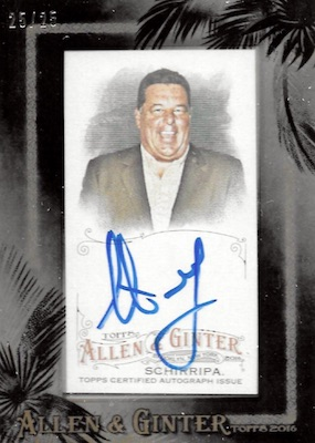 2016 Topps Allen & Ginter Non-Baseball Autographs Steve Schirripa