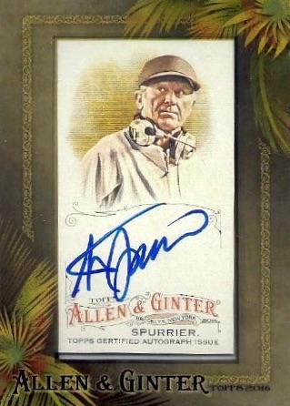 2016 Topps Allen & Ginter Non-Baseball Autographs Steve Spurrier