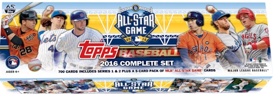2016 Topps Baseball Complete Set All-Star Edition