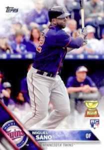 2016 Topps Baseball Retail Factory Set Rookie Variations 78 Miguel Sano