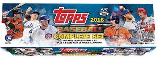 2016 Topps Baseball Retail Factory Set box
