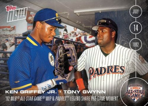 2016 Topps Now Baseball AS-1 Ken Griffey Jr and Tony Gwynn