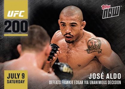 2016 Topps Now UFC MMA Jose Aldo