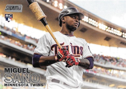 2016 Topps Stadium Club Baseball Base 81 Miguel Sano RC