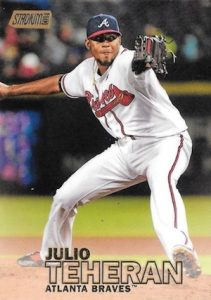 2016 Topps Stadium Club Baseball Base Gold 209 Julio Teheran